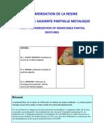Polymerisation de la resine en prothese adjointe partielle metallique.pdf