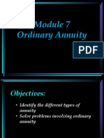 Module 7 - Ordinary Annuity