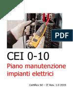 Piano di manutenzione impianto elettrico Rev. 1.0 2019 - Preview