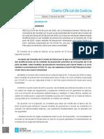 Resolucion Galicia modificaciones en las medidas de prevención