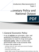 EC 127 Monetary Policy and National Output