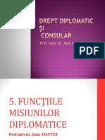 5. FUNCTIILE MISIUNII DIPLOMATICE