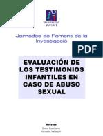ABUSO SEXUAL (VERACIDAD DEL TESTIMONIO)