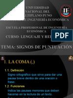 SIGNOS DE PUNTUACIÓN (lenguaje y redacción)