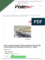 ART E LAUDO DE INSPEÇÃO VISUAL INSTALAÇÕES