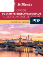 Croisière de Saint-Pétersbourg à Moscou au cœur de l'histoire et de l'actualité