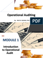 Module 1 Introduction to Operational Audit