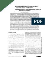 HUDSON - GOBIERNOS PROGRESISTAS Y COOPERATIVISMO planes de empleo en la Argentina
