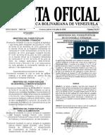 Gaceta Oficial 41913 Sumario