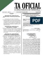 Gaceta Oficial 41901 Sumario