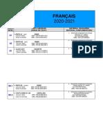FRANÇAIS bibliographie 2020-2021