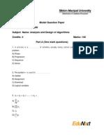 Analysis and Design of Algorithms - MC0080