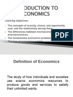 Topic 1 - INTRODUCTION TO ECONOMICS