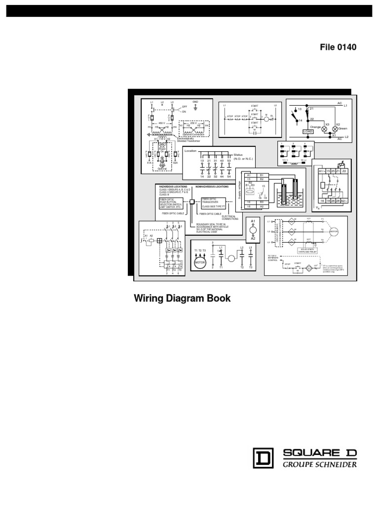 Square D Wiring Diagram Book | Switch | Relay