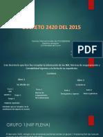 Trabajo Decreto 2420