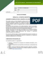 Guía de actividades - Estadistica y probabilidad modulo 1