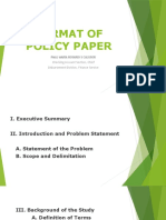 format-of-policy-paper