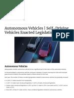 Autonomous Vehicles _ Self-Driving Vehicles Enacted Legislation