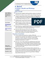 Legislative Brief-Health and Safety Code