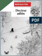 Decirse Adios - Marcello Fois
