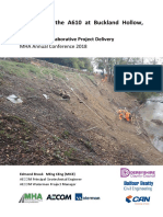 Case Study - Soil Nailing the A610 at Buckland Hollow, Derbyshire, UK