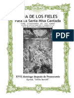 XVIII Domingo Después de Pentecostés. Guía de los fieles para la santa msia cantada. Kyrial Orbis Factor