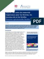 Assurer des soins de maternité respectueux pour les femmes, les nouveau-nés et les familles Directives opérationnelles flexibles.pdf