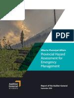 Alberta Municipal Affairs Provincial Hazard Assessment for Emergency Management