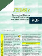 TEMA 1 ESTADISTICA I Conceptos Básicos.Datos. Variables