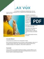 LAX VOX - Instruções- Exercícios