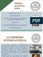LA PRIMERA INTERNACIONAL OBRERA