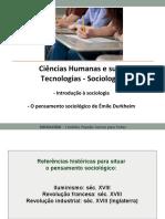 Sociologia 2018 - Tema 1 - Introdução e Durkheim