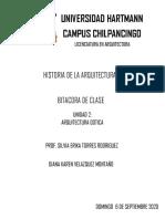 BITACORA DE CLASE