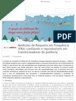 Medições de Resposta em Frequência (FRA) confiáveis e