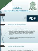Incompatibilidades y estabilidades de Medicamentos