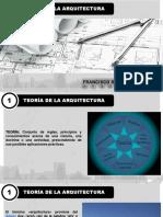 TEORÍA DE LA ARQUITECTURA, GENERALIDADES
