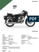 Bullet 500 specifications