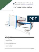 Hot transfer printing machine