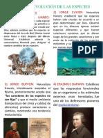 ORIGEN Y EVOLUCIÓN DE LAS ESPECIES