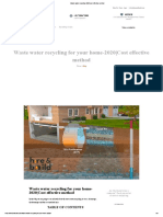 Waste water recycling 2020 cost effective method