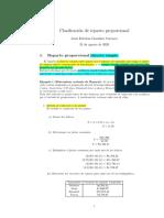 Reparto proporcional directo simple y compuesto