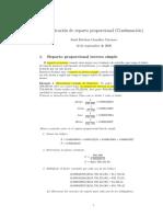 Reparto proporcional inverso y mixto