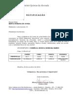 NOTIFICAÇÃO - QUINTA 01 - BENTA - área e medidas lote - 21.10.2013