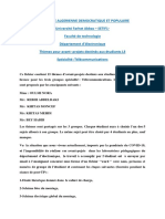 L3-Projet Fin Cycle -Licence Telecommunications