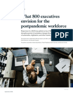 What 800 Executives Envision for the Postpandemic Workforce