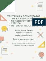PROS Y CONTRAS DISTINTAS PEDAGOGÍAS