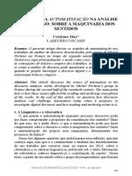 O sentido da automatização na análise de discurso sobre a maquinaria dos sentidos - Dias