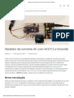 Medidor de corrente AC com ACS712 e Emonlib - FilipeFlop