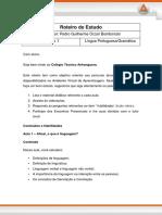 Roteiro de Estudo - Língua Portuguesa