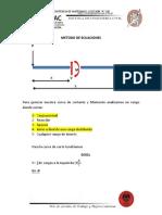 METODO DE ECUACIONES EVALUACION DE 0M HASTA 7M-RESISTENCIA DE MATERIALES 1 SECCION -A -PRIMER SEMESTRE 2020